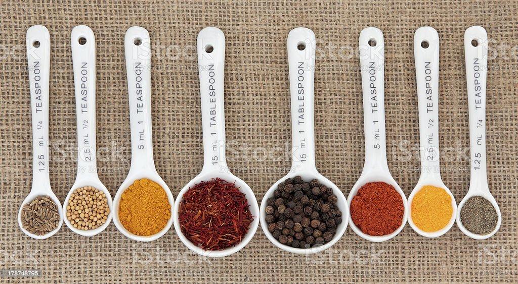 Spice Quantities stock photo