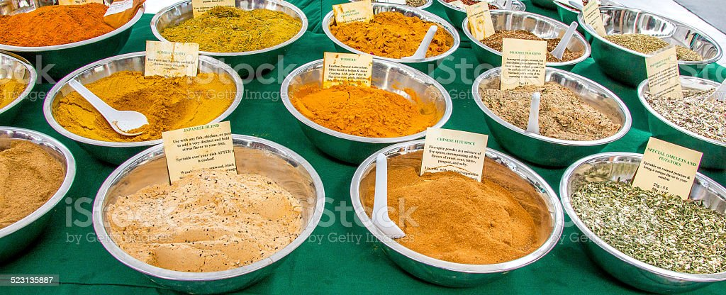 Spice Seasoning at Farmers Market stock photo