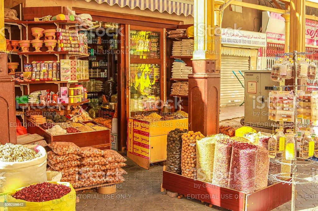 Spice Shop Souk Dubai stock photo