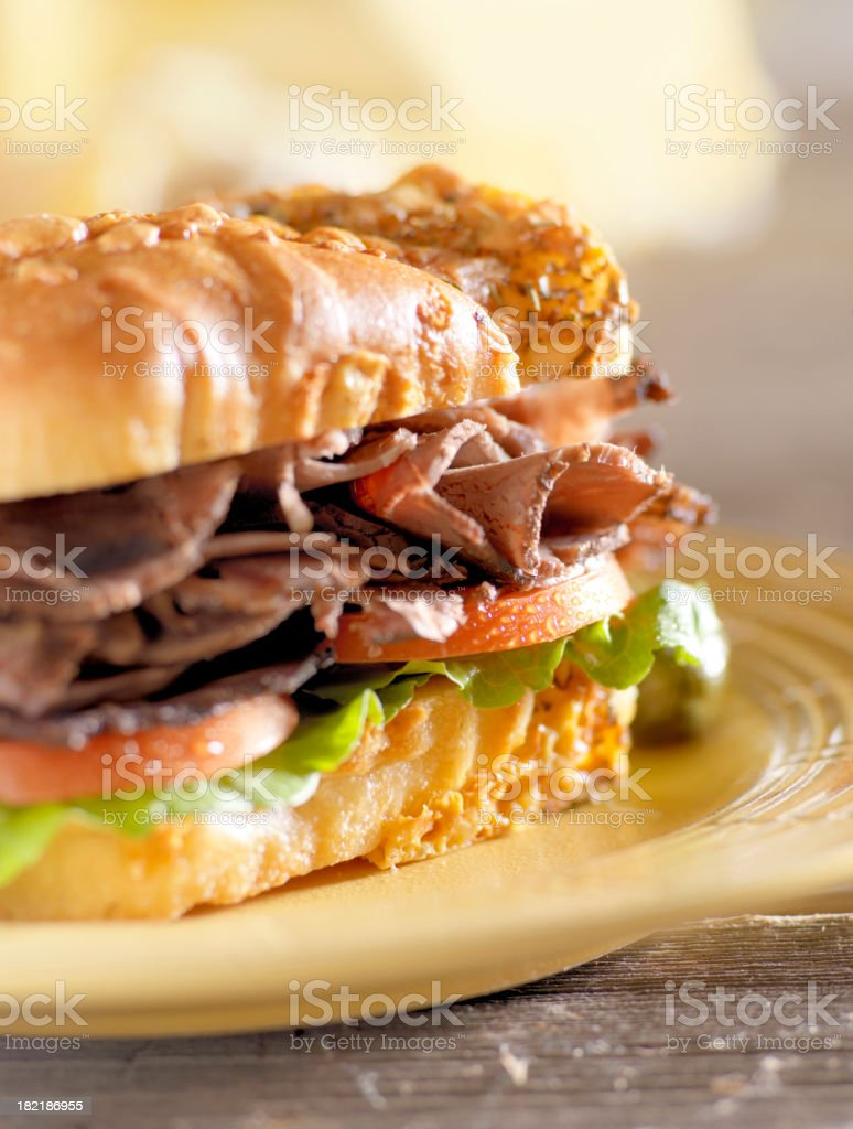 Spiced Beef Sandwich royalty-free stock photo