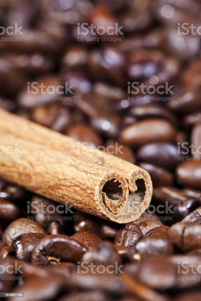 Spiced Coffee Beans royalty-free stock photo