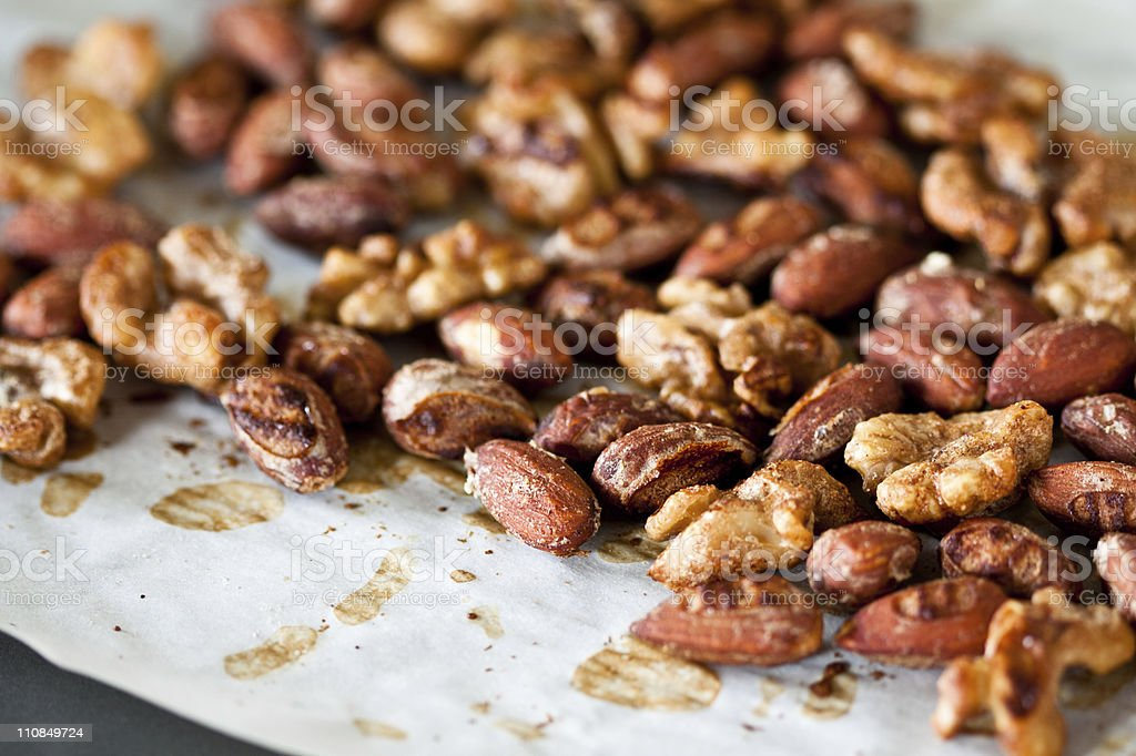 Spiced Nuts stock photo