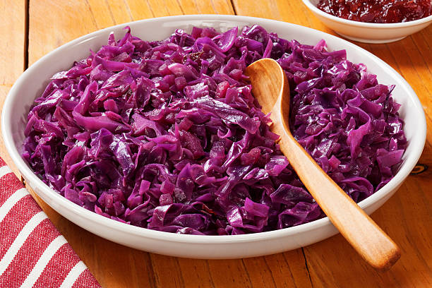 Spiced Red Cabbage stock photo