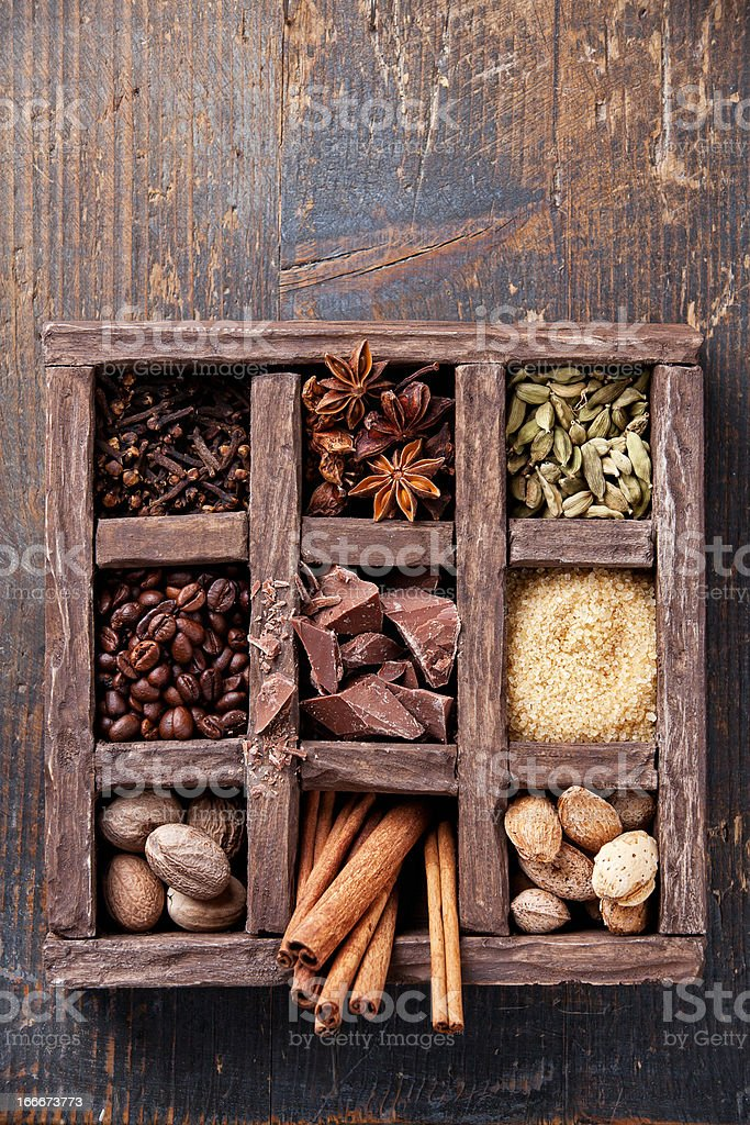 spices and coffee beans royalty-free stock photo