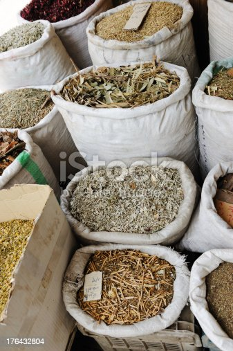 istock Spices and herbs at arabic market 176432804