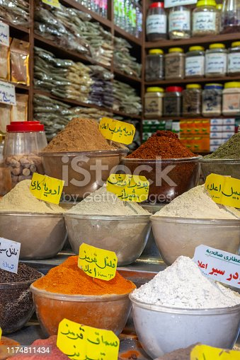 In every iranian city you can find all thoose colorful spices and herbs for sale in the bazaar
