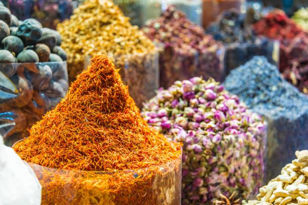 Gewürze und Kräuter auf dem Arab-Straßenmarkt – Foto