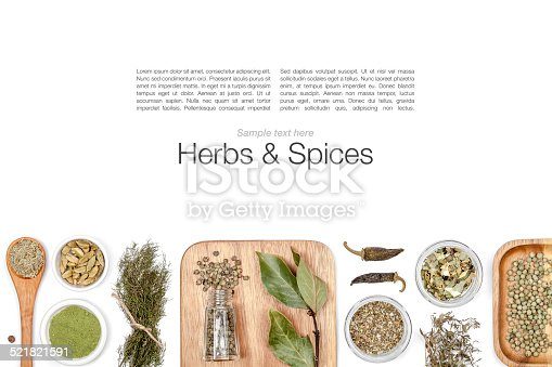istock spices and herbs on white background 521821591
