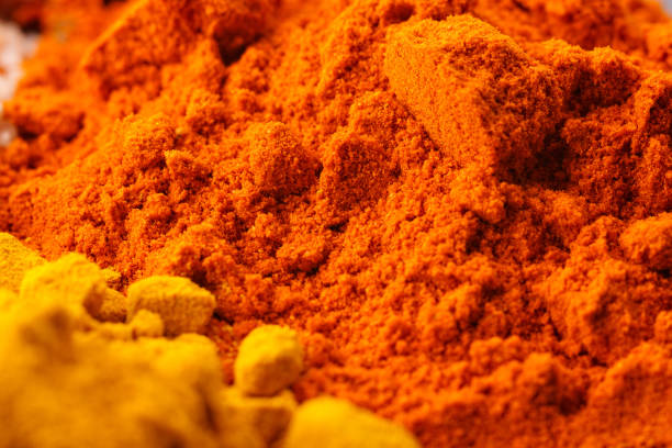 Spices and Seasonings Detail stock photo