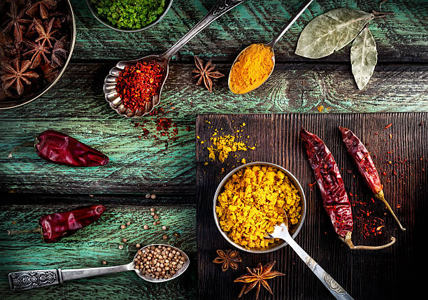Spices at the table​​​ foto