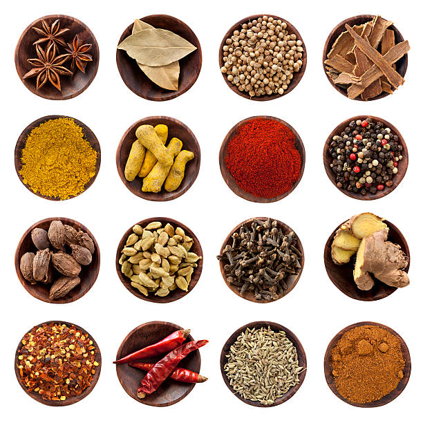 Spices Collection XXXL  star anise on white stock pictures, royalty-free photos & images