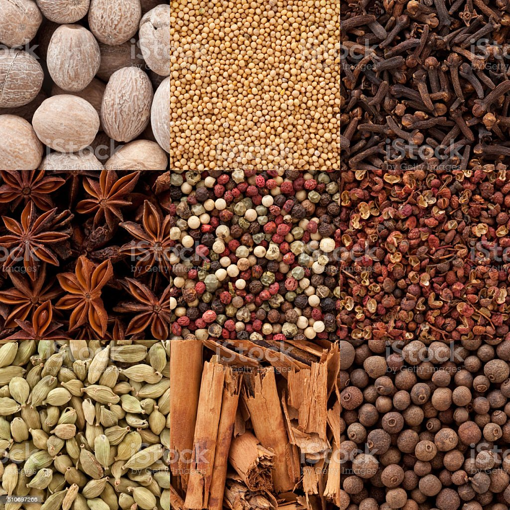 Spices composition stock photo