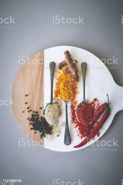 Spices Contribute Rich Flavor To Food Without Adding Any Calories Stock Photo - Download Image Now