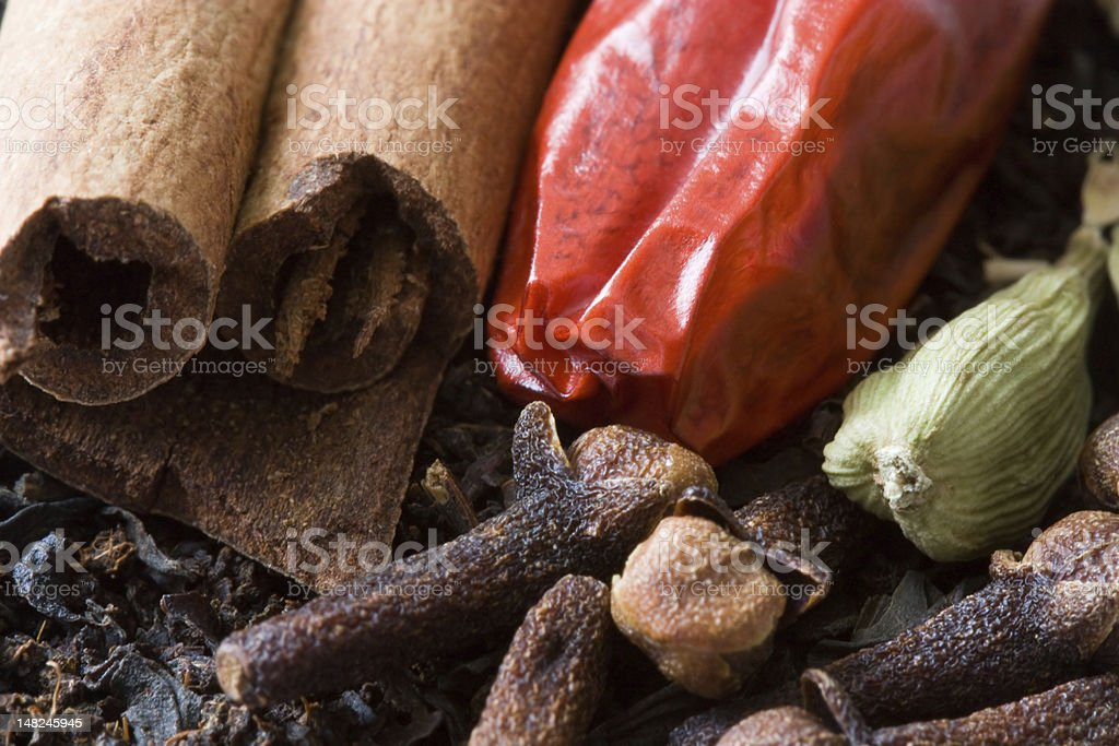 Spices for Chai Tea royalty-free stock photo