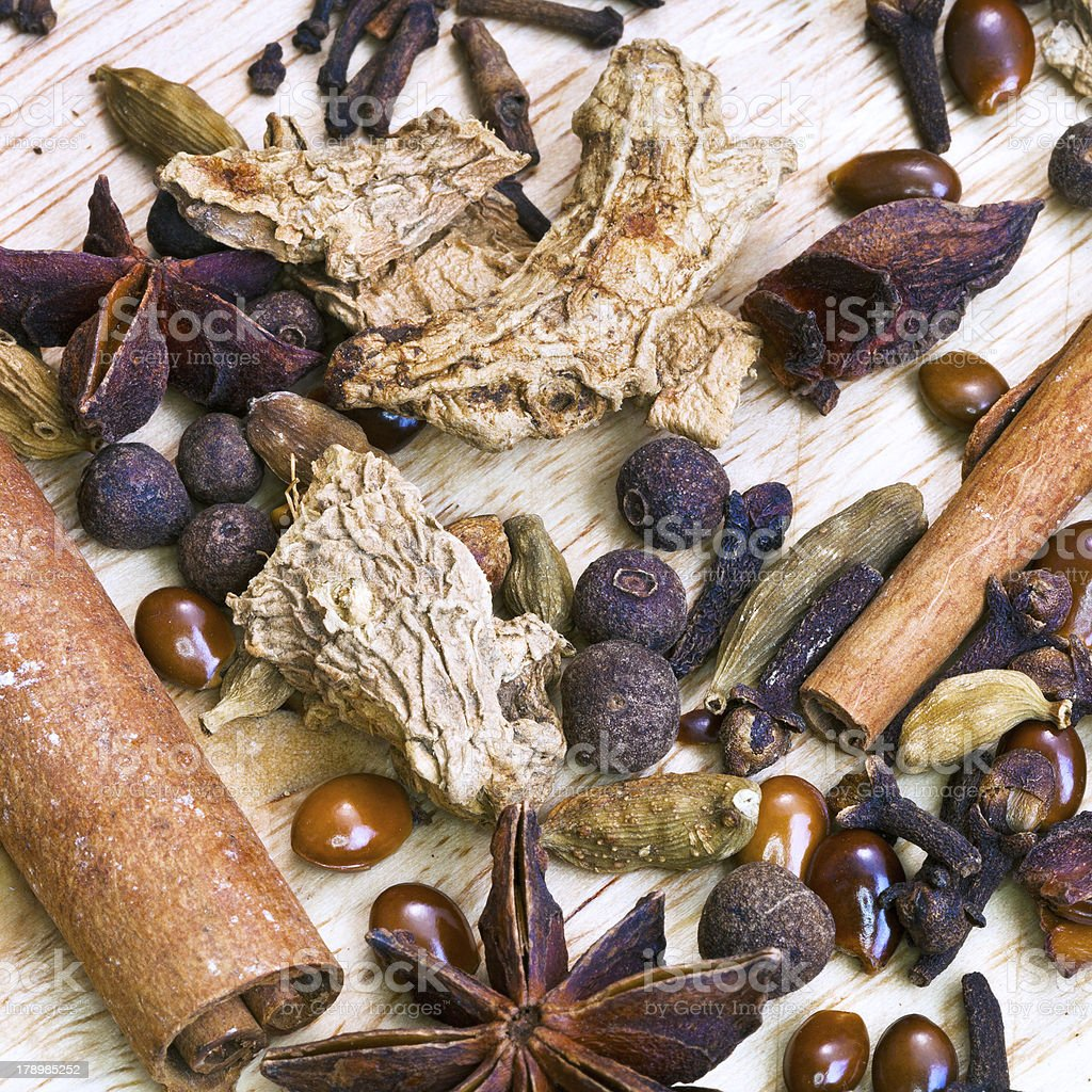 spices for mulled wine royalty-free stock photo