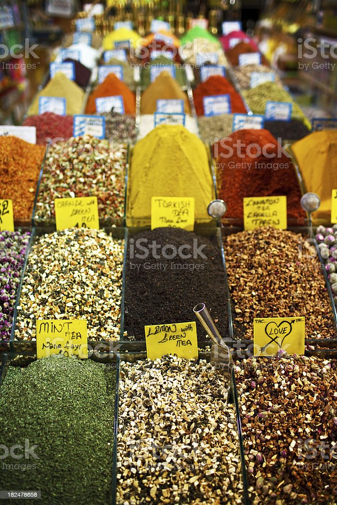 Spices for sale in istanbul royalty-free stock photo