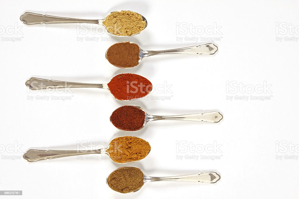 Spices In A Row royalty-free stock photo