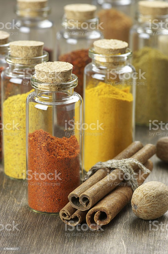 Spices In Bottles Stock Photo - Download Image Now - iStock