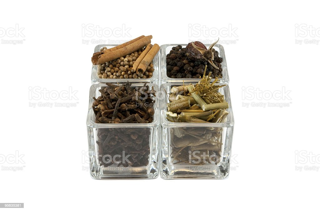 Spices in glass royalty-free stock photo
