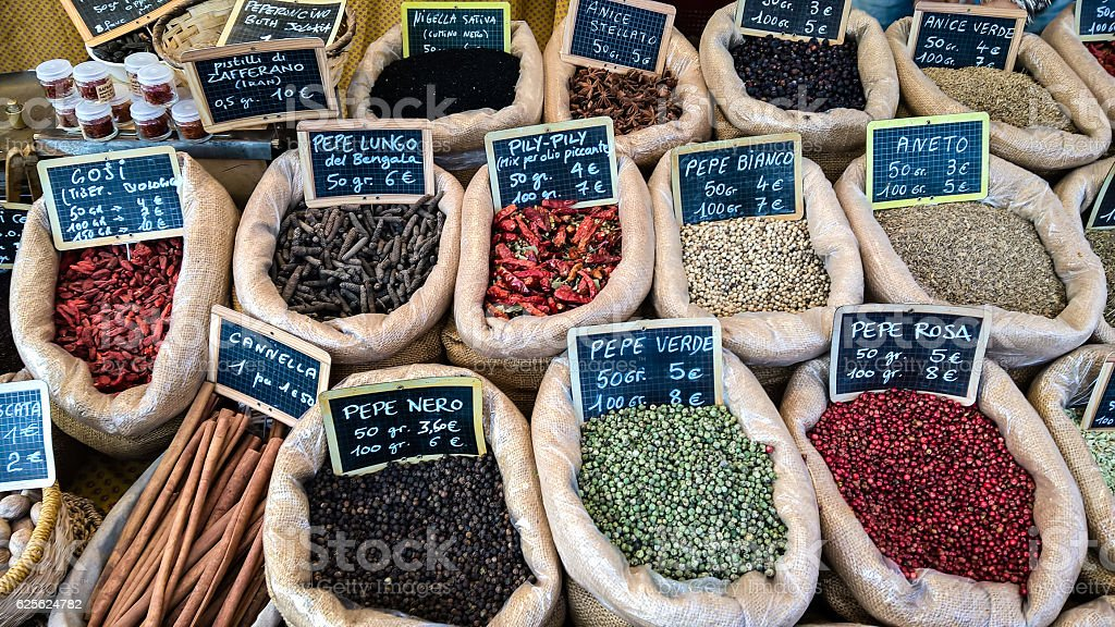 Spices In Jute Bag Stock Photo - Download Image Now - iStock