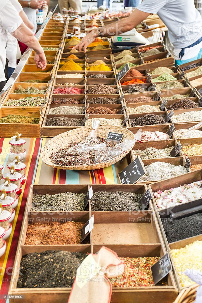 Spices In Market Of Antibes France Stock Photo & More Pictures of  Agricultural Fair