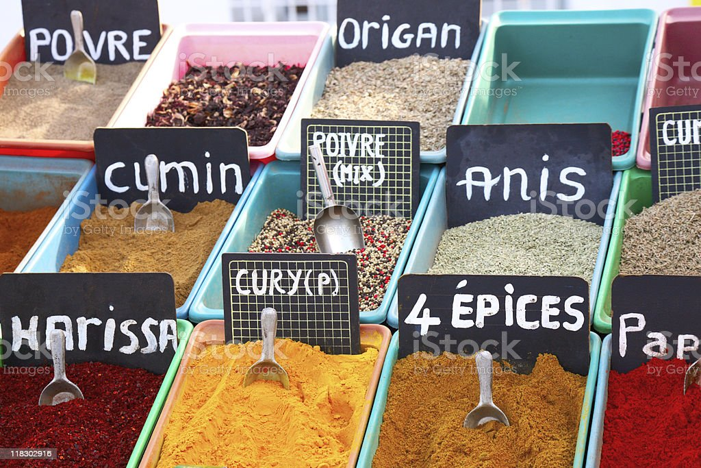 spices in the market royalty-free stock photo