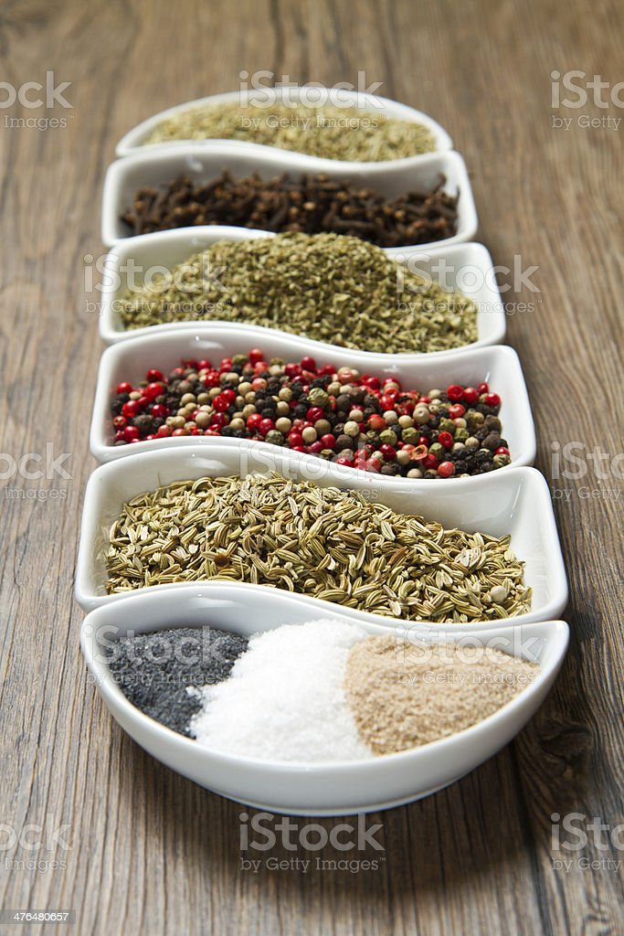 spices in white box royalty-free stock photo