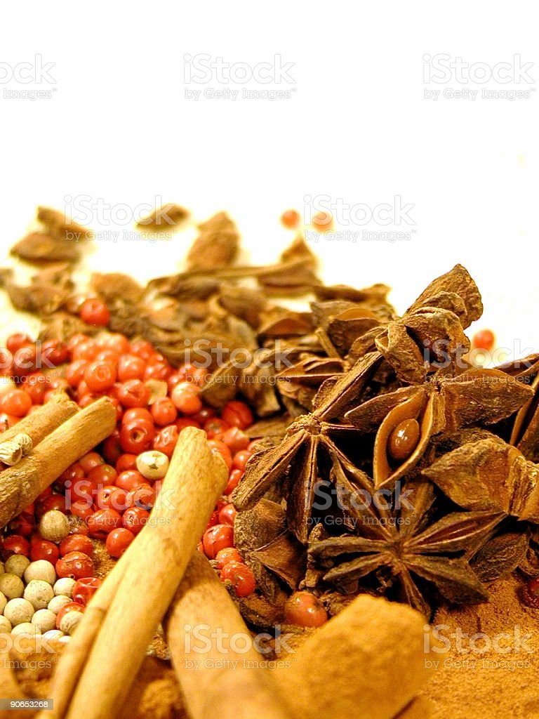 Spices Isolated royalty-free stock photo