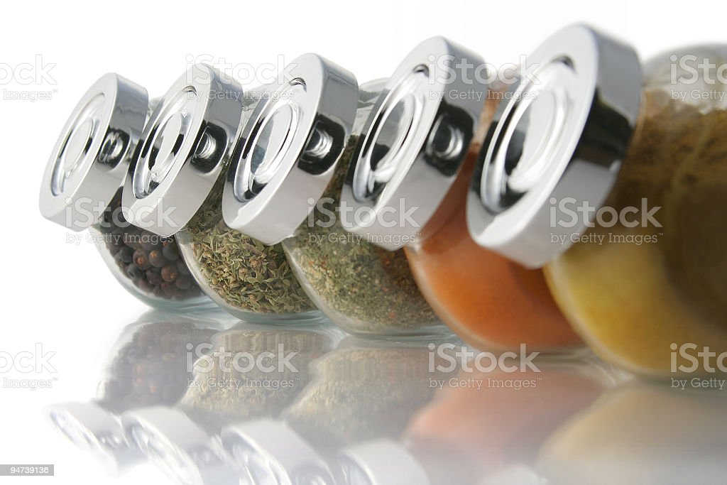 Spices jars royalty-free stock photo