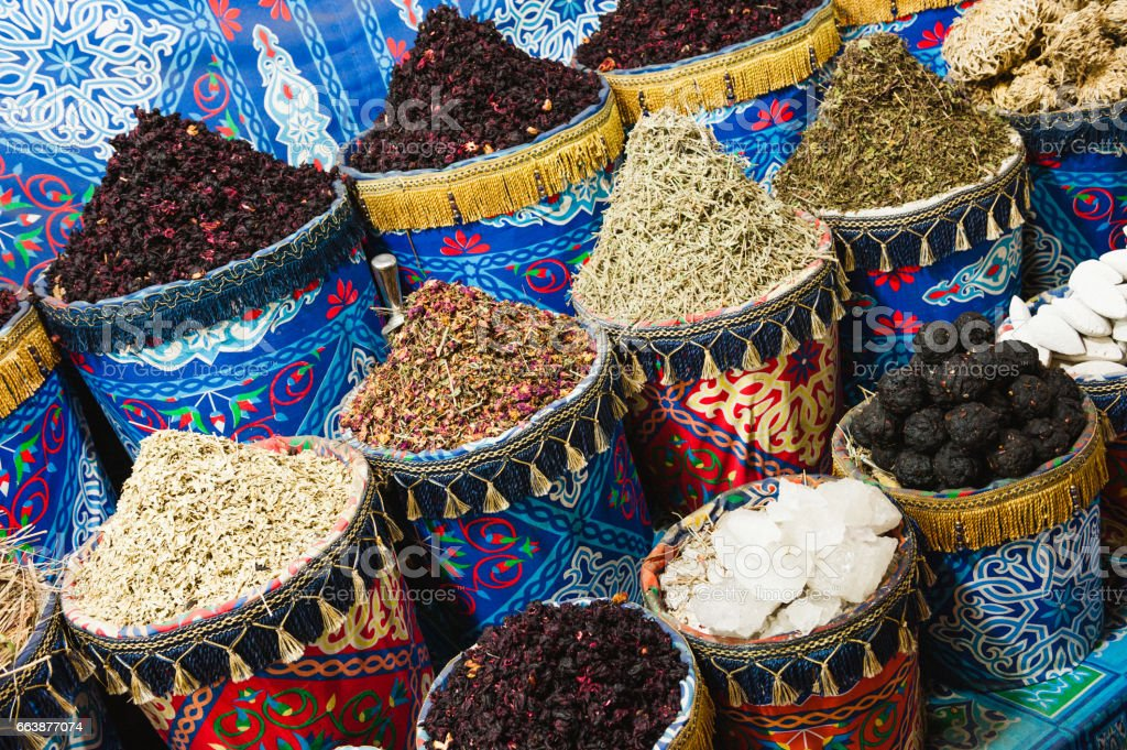 Spices of Egypt stock photo