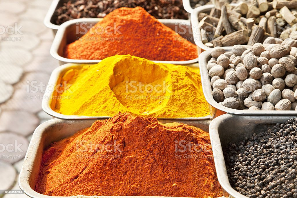 spices of India royalty-free stock photo