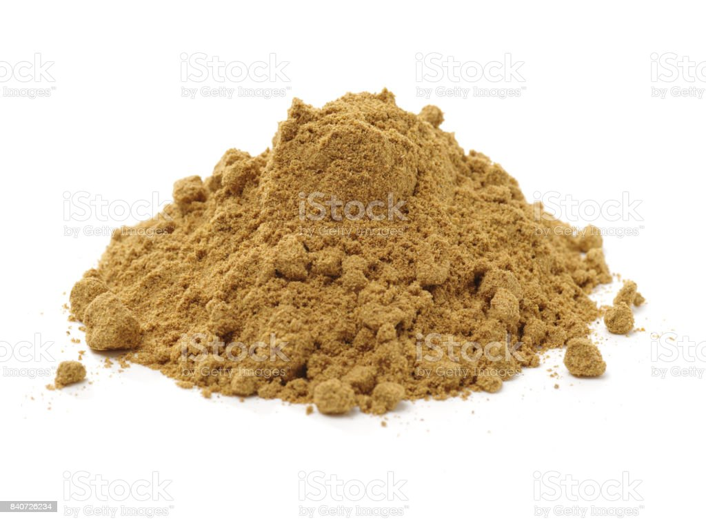 Spices on white background stock photo