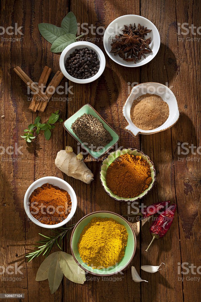 Spices Nice composition of different spices Allspice Stock Photo