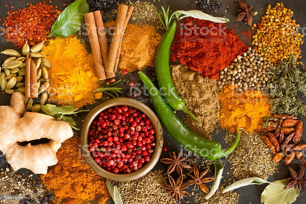 Spices stock photo