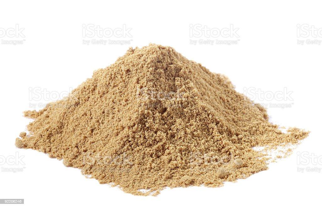 spices - pile of Light Garam Masala over white stock photo