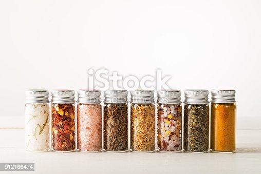 istock Spices Set in Mini Bottles 912166474