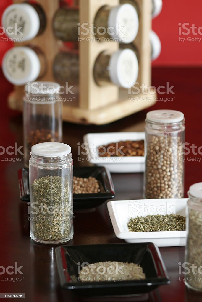 Spices with Rack royalty-free stock photo