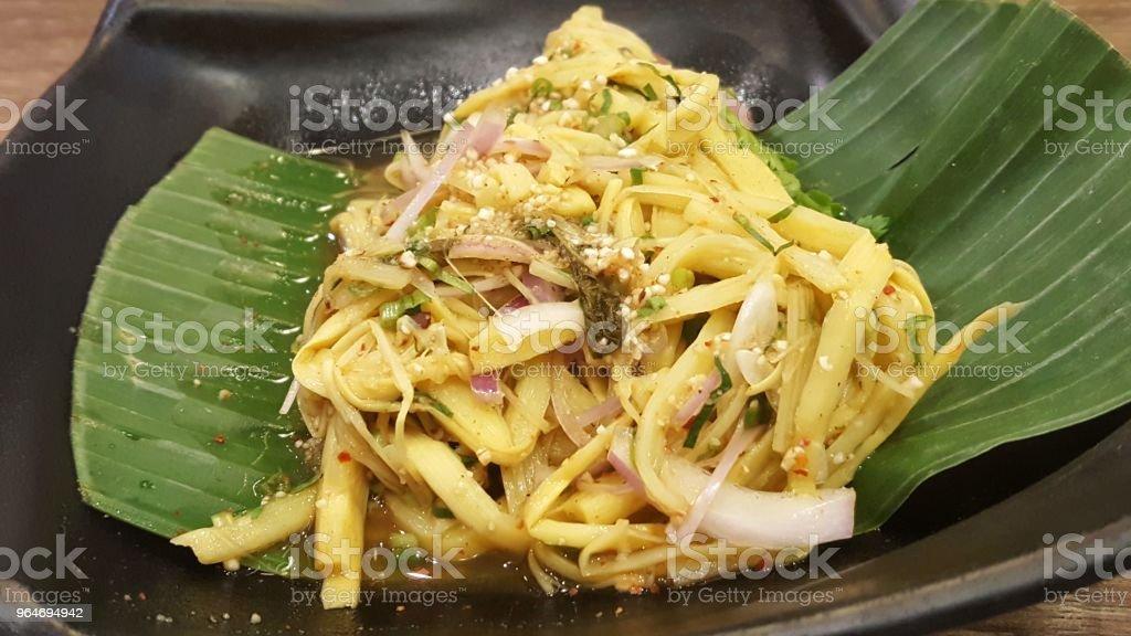 Spicy Bamboo Shoot Salad royalty-free stock photo