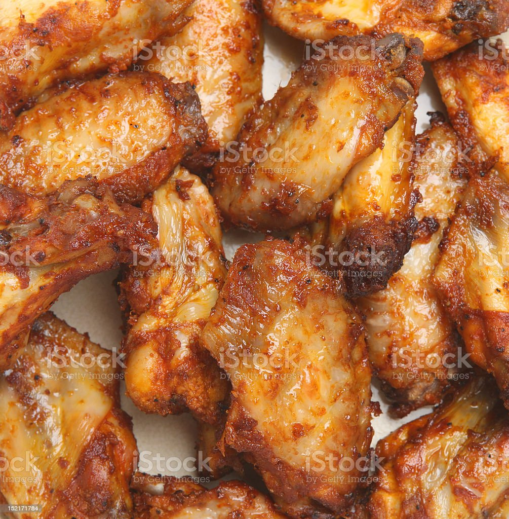 Spicy BBQ Chicken Wings royalty-free stock photo