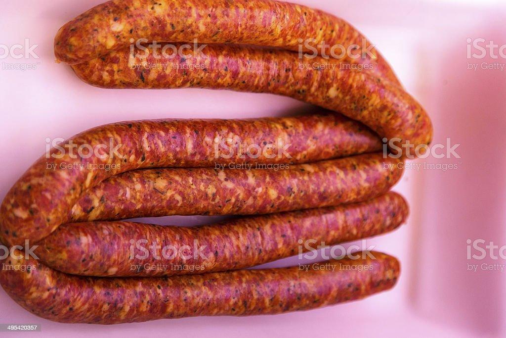 spicy botifarra stock photo