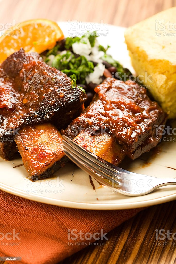 Spicy Braised Beef Ribs stock photo