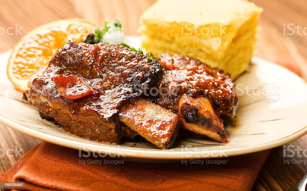 Spicy Braised Beef Ribs royalty-free stock photo