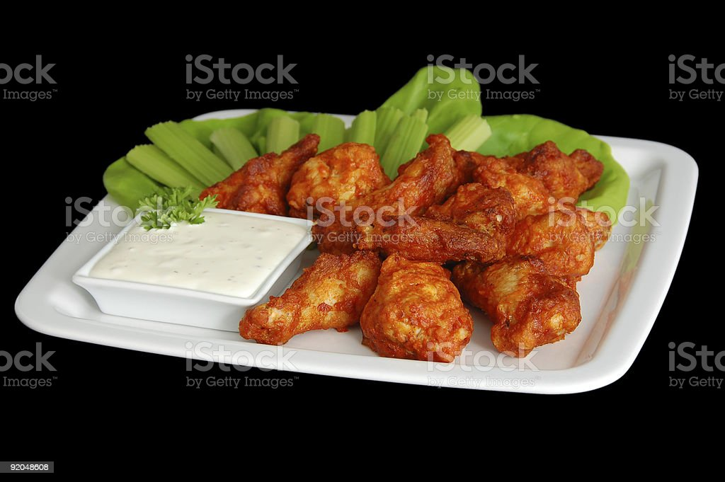 Spicy Buffalo Wings royalty-free stock photo