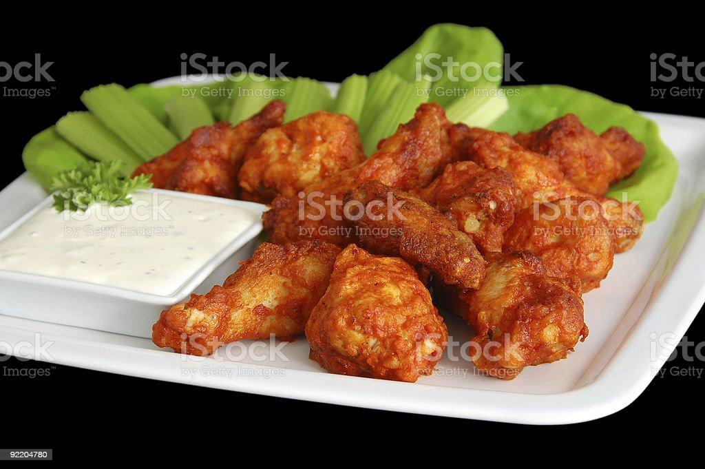 Spicy Buffalo Wings stock photo