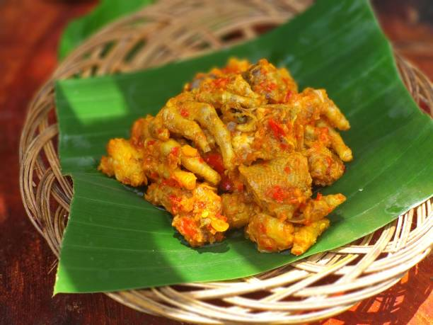 spicy chicken rica-rica Spicy rica-rica is a food made from chicken with hot spices manado stock pictures, royalty-free photos & images