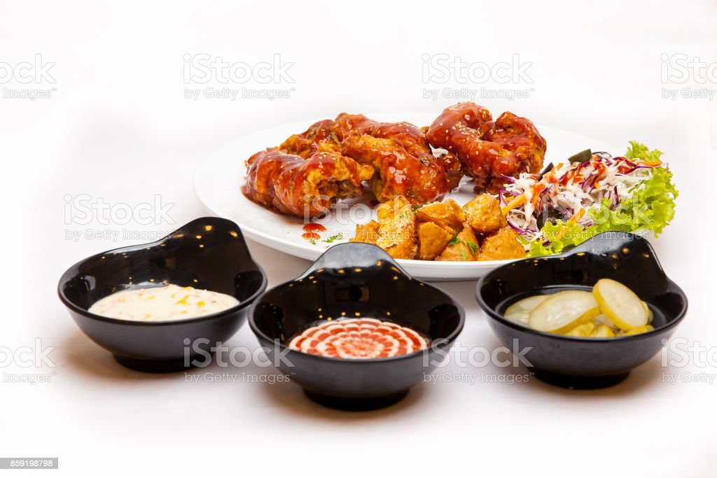 Spicy Chicken wings stock photo