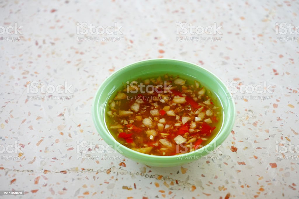 spicy dipping sauce stock photo