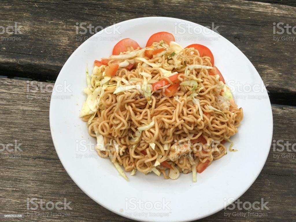 spicy dry noodle salad - Royalty-free Alimentação Saudável Foto de stock