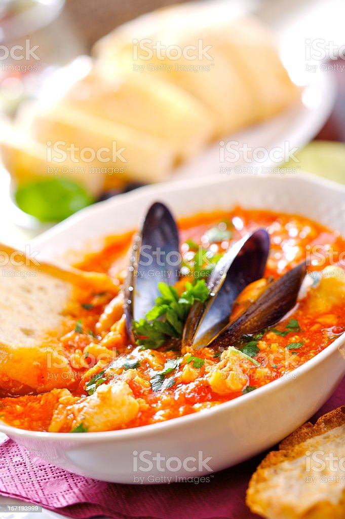 Spicy Fish Soup stock photo