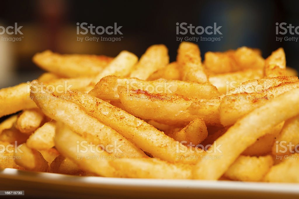 Spicy Fries stock photo